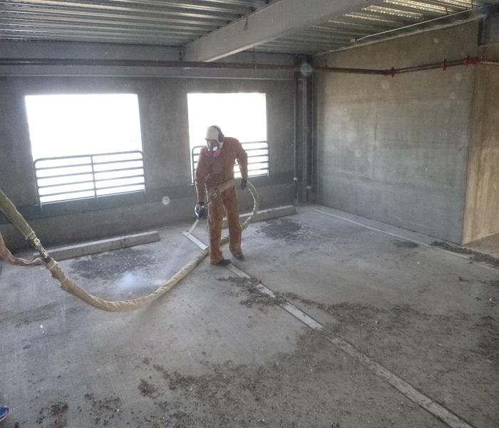 Dry Ice Blasting Parking Garage
